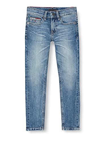 Tommy Hilfiger Spencer Slim Tapered Jeans, Vintage Denim, 16 años para Niños