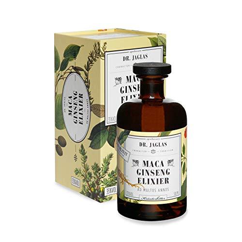 Dr. Jaglas Maca Ginseng-Elixier DIE ZEIT Sonderedition/Kräuterbitter als Einzelflasche mit 500 ml / 35% Vol