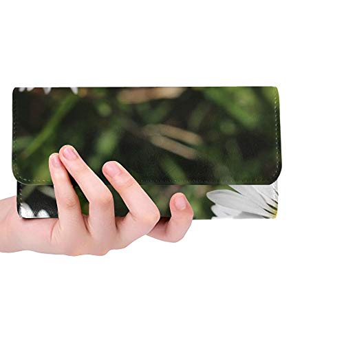 Unique Custom Two Rays Bright Bloom Blossom Bloom Small Tiny Women Trifold Wallet Long Purse Credit Card Holder Case Handbag