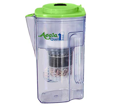Water Filter AcalaQuell One Water Filter Jug | Light Green | Highest Filtration Performance | Multi-Layered Filter Cartridge | PI-Technology | Sponge Filter | Water Filter System | Principles of nature | intense R&D. Creates delicious-tasting and healthy water