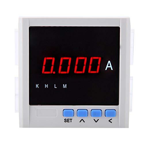 Amperímetro de CA Amperímetro de pantalla digital Amperímetro de CA Voltímetro 1A / 5A Amperímetro monofásico Amperímetro de CA digital para automatización de distribución Edificio