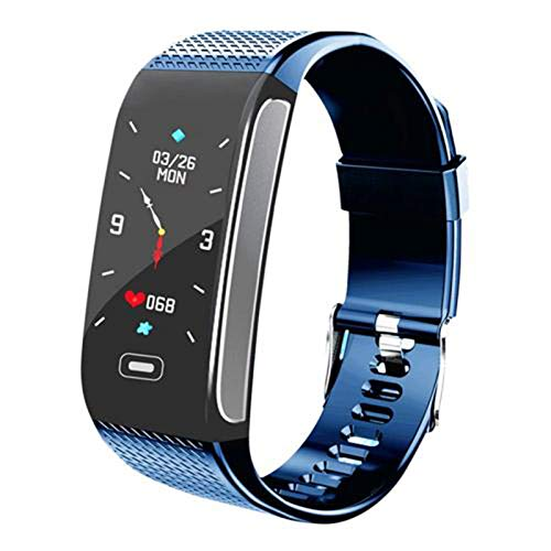 YYZ Smartwatch para Hombres Y Mujeres para Android iOS Fashion Sports Impermeable IP68 Presión Arterial Fitness CK18S Smart Watch,B