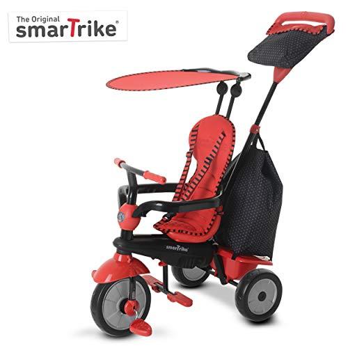 SMARTRIKE 6951500–Glow Touch Steering 4en 1Triciclo, color rojo