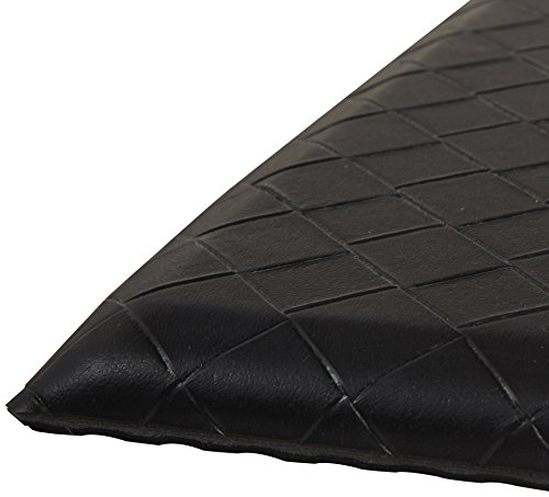 Amazon Basics Premium Anti-Fatigue Standing Comfort Mat for Home and Office, 20 x 36 Inch, Black