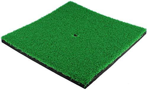 MYKUJA Golf Mat 12x12inch Residential Practice Hitting Mat Indoor/Outdoor SBR Golf Mats for Driving Range Practice, Backyard Use-Green(Short Grass)