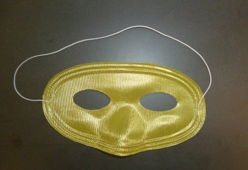Pack of 12 Yellow Eye Masks - Drama/Theatre/Fancy Dress/Party Bags (HW223) [Toy]