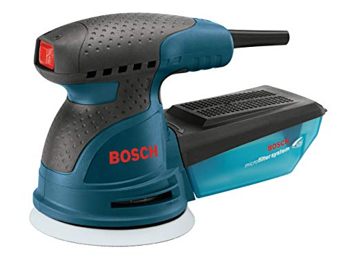 BOSCH ROS20VSK Palm Sander - 2.5 Amp 5 in. Corded Variable Speed Random Orbital...