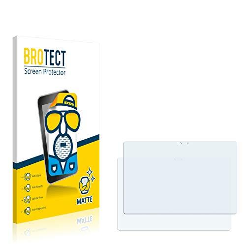 BROTECT 2X Entspiegelungs-Schutzfolie kompatibel mit Point of View Mobii WinTab 1000BW Bildschirmschutz-Folie Matt, Anti-Reflex, Anti-Fingerprint