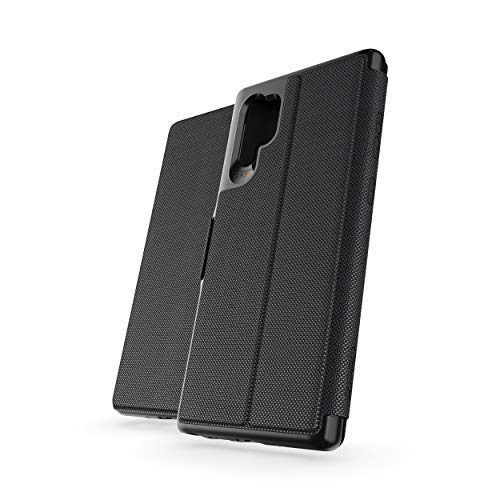 GEAR4 Oxford Eco Folio Compatible with Samsung Galaxy Note 10 Plus Case, Recycled-Plastic Phone Cover, Advanced Impact Protection with Integrated D3O Technology, Booklet Case – Black