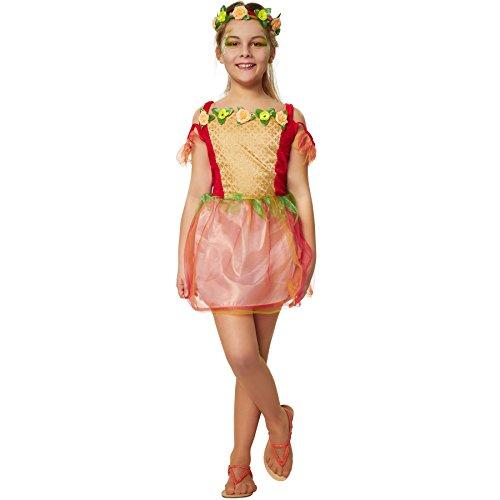 dressforfun 900343 Disfraz para Chica Hada de Flores, Precioso Vestido en Tonos Clidos, Incl. Diadema con una Corona de Flores (116 | no. 301699)