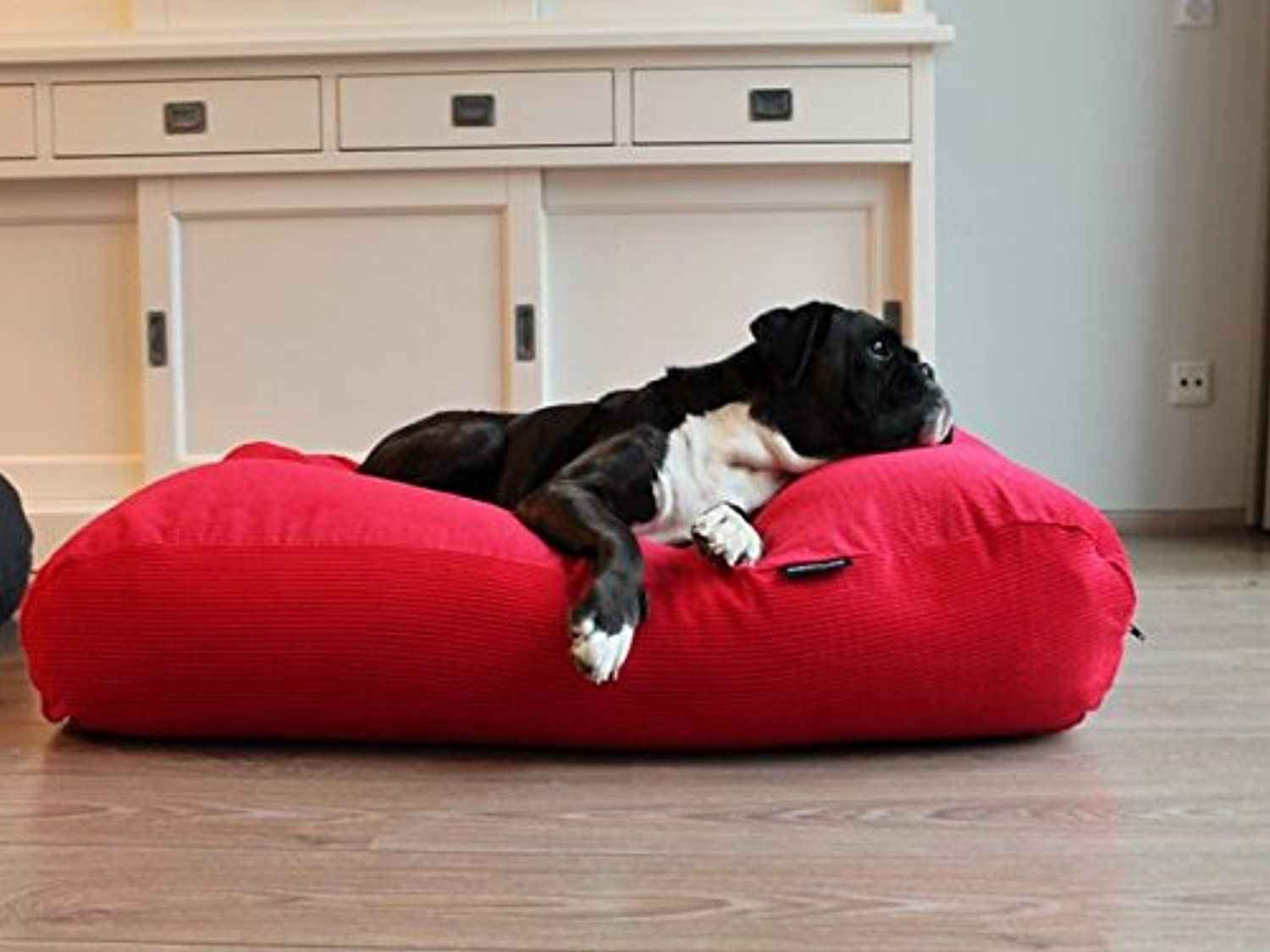 Dog's Companion Dog Bed Small Red Corduroy