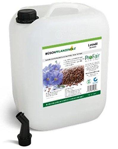 ProFair 10L Huile de lin pressée à froid, 100% pur Graines de Lin–Sans additifs, sans conservateurs