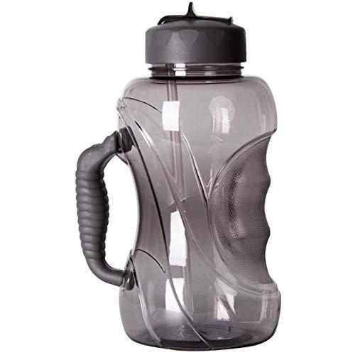 Botella de Agua Grande con Pajita, Botella Deportiva de 1,5 litros con asa, Botella a Prueba de Fugas, se Puede Usar en Gimnasio, Deportes al Aire Libre, Oficina