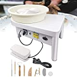 Tech-L Pottery Wheel 350W 25cm Pottery Forming Machine Art Craft DIY Clay Tool Electric Ceramics Wheel with Foot Pedal and Detachable Basin for Ceramic Work Ceramics Clay (350W 25cm)