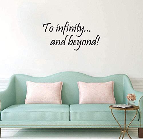 Frase en inglés letras póster pegatinas de pared extraíble vinilo pared calcomanía sala de estar dormitorio DIY decoración del hogar interior arte mural