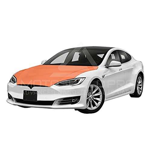 MotoShield Pro Precut Car Self-Healing Paint Protection Film, Clear Bra Paint Protection Film for DIY or Professional Use - for Tesla Model S (Full Hood Only)