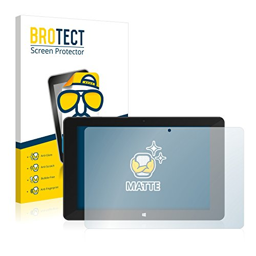 BROTECT 2X Entspiegelungs-Schutzfolie kompatibel mit TrekStor SurfTab Duo W1 Displayschutz-Folie Matt, Anti-Reflex, Anti-Fingerprint