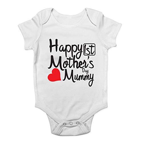 Mono de bebé Promini para bebé – Feliz primer día de la madre – Body de bebé de una sola pieza mameluco de bebé el mejor regalo para bebé