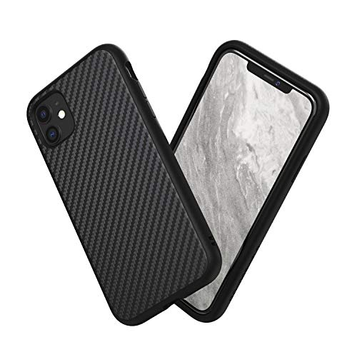 RhinoShield Case Compatible with [iPhone 11]   SolidSuit - Shock Absorbent Slim Design Protective Cover with Premium Matte Finish 3.5M / 11ft Drop Protection - Carbon Fiber-Black