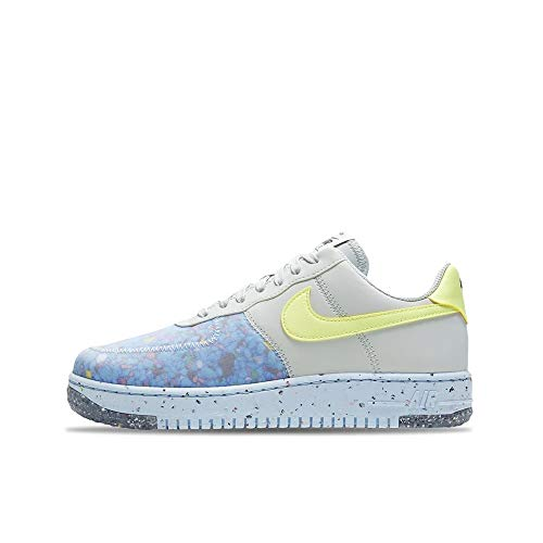 Nike Air Force 1 Crater, Zapatillas de bsquetbol Mujer, Pure Platinum Barely Volt Summit White, 40.5 EU