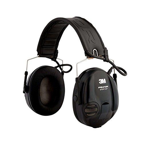 3M Peltor SportTac Impuls-Kapselgehörschutz für Jäger und Sportschützen, inklusive Batterie AAA, SNR 26 dB, 1 Stück, STAC-RD, schwarze und rote Schalen