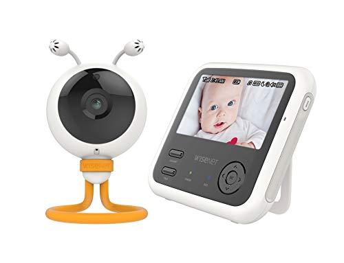 Wisenet 8801089158802 BabyView Eco Flex SEW-3048W con Pantalla de 4,3', cámara HD, 7 Canciones de Cuna y Sonidos Blancos pre-programadas