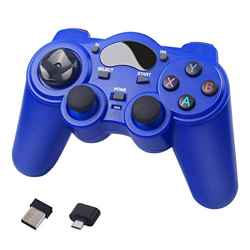 2.4 G Wireless Bluetooth Gaming Game controller Gamepad per il telefono Smart TV computer-Blu