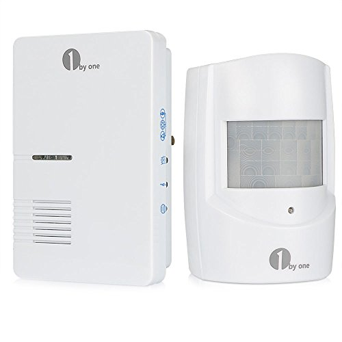 1byone Wireless Home Security Driveway Alarm, 1 Plug-in Receiver and 1 PIR...