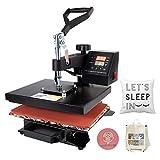 CO-Z Máquina de Prensa de Calor Multifuncional 25X30CM 600W Prensa de Calor con Pantalla LED Máquina de Sublimación para Camiseta/Máscara/Bolsa