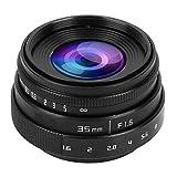カメラレンズ Mugast 35mm F1.6 CCTV Cマウント カメラレンズ 大口径レンズ ソニーNEX 3 FX対応(ブラック)