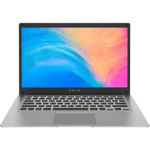 SGIN Pc Portatile 14,1 Pollici FHD, DDR4 da4 GB, Notebook SSD da 128 GB(Membrana tastiera italiana,Windows 10,Intel Celeron N4020,Dual Band WiFi,HDMI)Supporta l'espansione della scheda TF da 1 TB