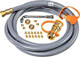 Blackstone 5249 Propane to Natural Gas Conversion Kit for Grill, Compatible 28', 36' Griddles, Tailgater, Rangetop Combo & Single Burner Rec Stove – Hose, Quick Connect Fitting