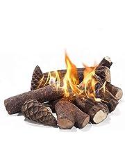 Realistische open haard onderscheidt keramische houtdecoratie voor gas-ethanol-brandhoutset