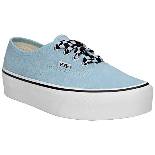 Vans Unisex Authentic Platform 2.0 Suede Cool Blue White Trainer 37 EU