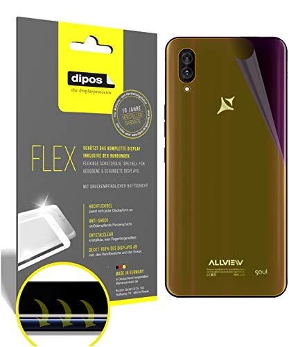 dipos I 3X Schutzfolie 100prozent passend für Allview Soul X6 Xtreme Rückseite Folie I 3D Full Cover Bildschirmschutzfolie