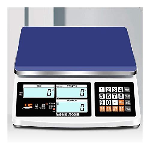 CHEN Q Las escalas digitales electrónicas, Contar Pesas industriales de alta precisión electrónica Básculas de cálculo Básculas industriales Básculas comerciales Supermercados (Color : 15kg/0.2g)