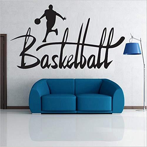 ganlanshu Basketball Junge Sport wandaufkleber Wohnzimmer Schlafzimmer Dekoration Aufkleber Kindergarten Schlafzimmer wandtattoos 85 cm x 154 cm