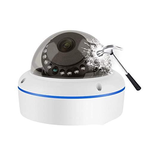LLKK Super HD 5MP H.265 vigilancia IP POE Cámara 1080P Audio Micrófono Domo Cámara de Seguridad Interior Correo electrónico Push (color : 12V5MP)