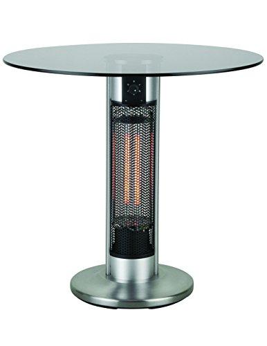 Bistrotisch mit Infrarot-Heizstrahler - Tischplatte Glas - zweistufig regelbar - 800/1600 W - 80 cm Tischplatte - Gartentisch als Terrassenstrahler mit Infrarotheizung, Tisch mit Infrarotstrahler, inkl. Speditionsversand (bitte Telefon-Nr. in Bestellung angeben)