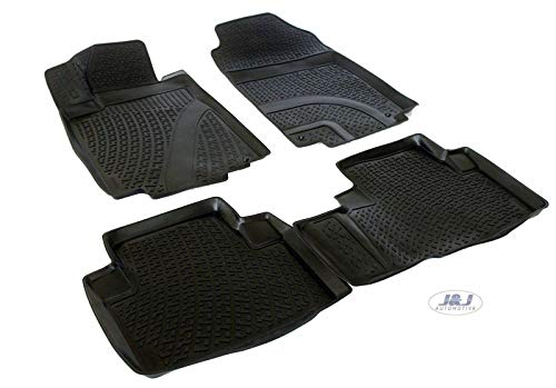 J&J Automotive | Alfombrillas de goma 3D exclusivas compatibles con Honda CRV C-RV 2012-2017 3 unidades