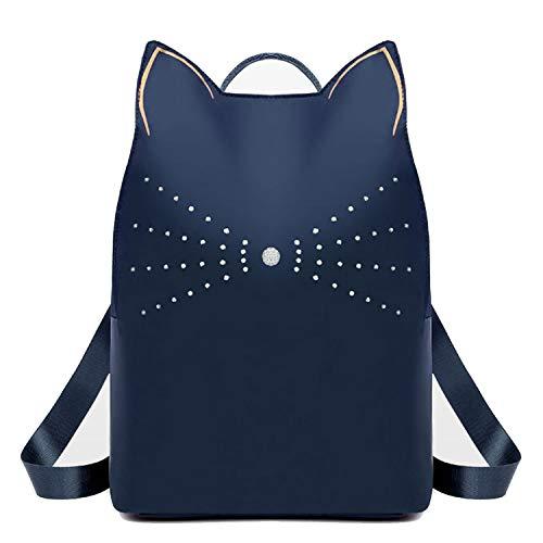 Mochila de Tela Oxford para Mujer, con Forma de Orejas de Gato, para Mujer