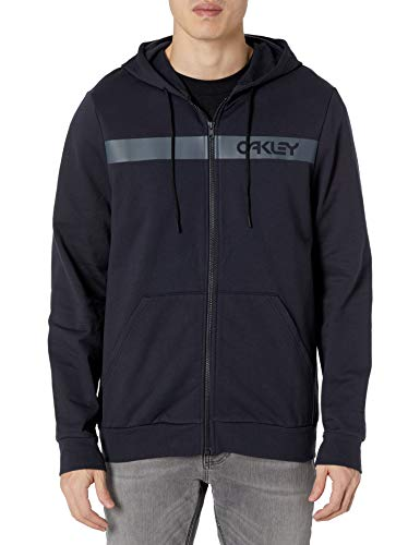Oakley Men's Straight Peak Fleece Hoodie, Blackout, XXL