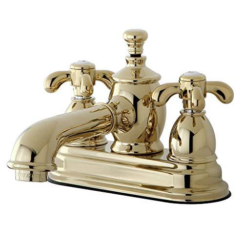 Kingston Brass KS7002TX Llave de Grifo de baño de 10,16cm con válvula Clic-clac, latón pulido, 4-1/2 inch in Spout Reach