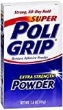 PoliGrip Super Denture Adhesive Powder, Extra Strength 1.6 oz Container (2)