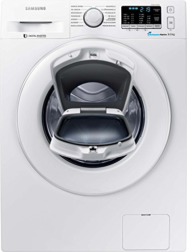 Samsung WW80K5400WW/EG Waschmaschine FL/A+++/116 kWh/Jahr/1400 UpM/8 kg/Add Wash/Smart Check/Digital Inverter Motor