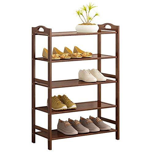 JIADUOBAO Zapatero multifunción de madera, 5 niveles, organizador de almacenamiento para el hogar, gran capacidad