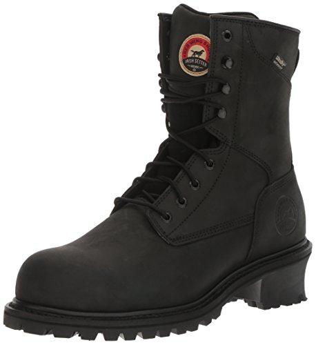 Irish Setter Work Men's Mesabi Steel Toe 83836 Boot, Black, 9.5 D US