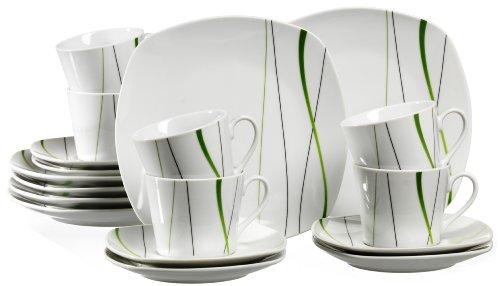 Ritzenhoff & Breker 596472 - Juego de café (18 Piezas), Color Blanco...