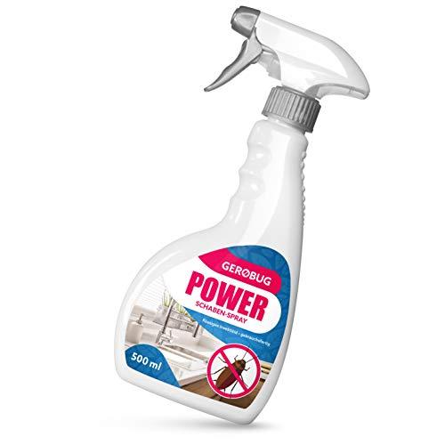 Gerobug 500 ml Power Schaben-Spray zur Schabenbekämpfung + E-Book + Support vom Experten