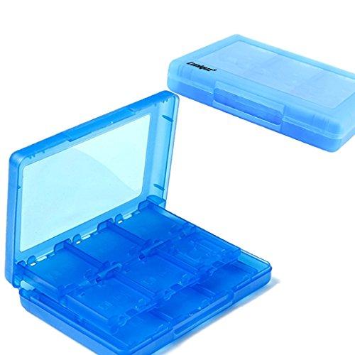 Luniquz 26en 1Juego de Memoria Tarjeta Caja de Almacenamiento, Organizador Soporte para Nintendo 3DS, 3DS LL, DS, DSi XL, DS Lite, 2DS, NDS